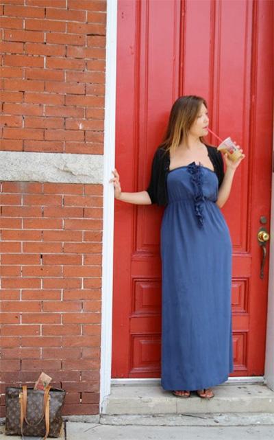 About Adrienne Everheart Blue Dress Photo